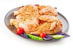 Chicken tabaka in marinade Royalty Free Stock Photos