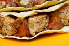 Chicken taco closeup Stock Photography