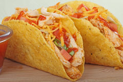 Chicken Taco Closeup Royalty Free Stock Image
