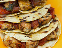 Chicken tacos Royalty Free Stock Photography