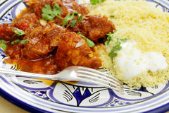 Chicken tagine meal closeup Stock Photo