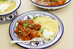 Chicken tagine meal horizontal Royalty Free Stock Images