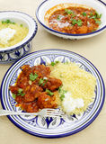 Chicken tagine meal vertical Royalty Free Stock Photo