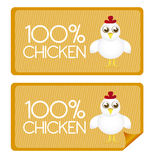 Chicken tags Stock Photography