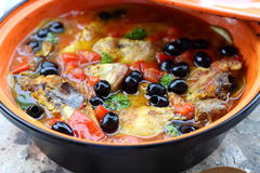 Chicken tajine Royalty Free Stock Photos