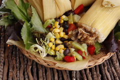 Chicken tamale Stock Photography