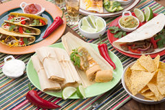 Chicken Tamales With Green Salsa Royalty Free Stock Photos