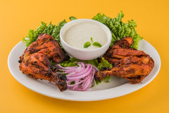 Chicken tandoori or barbecue chicken leg Royalty Free Stock Image