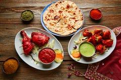 Chicken Tandoori and Chicken Tikka Stock Photo