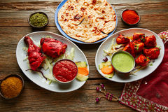 Chicken Tandoori and Chicken Tikka. Indian food recipes Stock Photography
