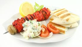 Chicken Tandoori Skewer Royalty Free Stock Photos
