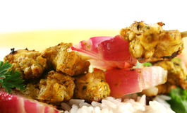 Chicken Tandoori Skewers Stock Image