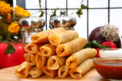 Chicken Taquitos Royalty Free Stock Photography