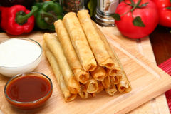 Chicken Taquitos Royalty Free Stock Images