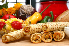 Chicken Taquitos Stock Photography