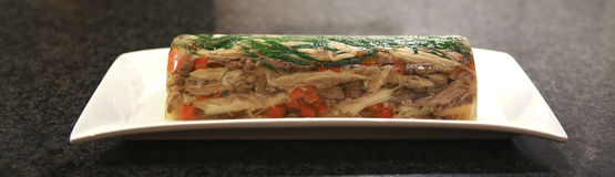 Chicken and  taragon terrine Royalty Free Stock Images