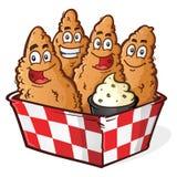 Chicken Tender Cartoon Characters Stock Image