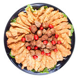 Chicken tenders and meatballs catering Stock Photo