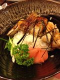 Teriyaki chicken with japanese rice Royalty Free Stock Images