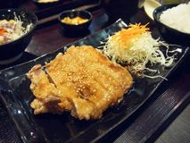 Chicken Teriyaki with rice Stock Photos
