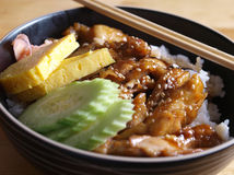 Chicken teriyaki with rice Stock Photography