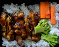 Chicken teriyaki with rice Royalty Free Stock Photos