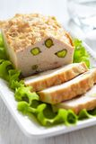 Chicken terrine with pistachios Stock Photography
