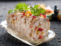 Chicken terrine. With vegetables, selective focus Stock Photography
