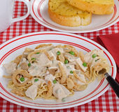 Chicken Tetrazzini Meal Stock Photography