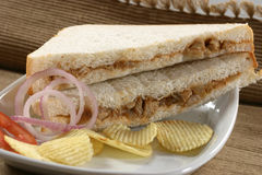Chicken tex max Sandwich Stock Images