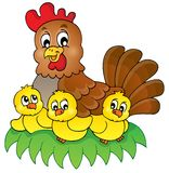 Chicken theme image 4. Eps10 vector illustration Royalty Free Stock Image