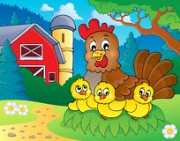 Chicken theme image 5. Eps10 vector illustration Stock Images