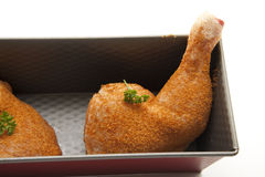 Chicken thigh in the back form Stock Image