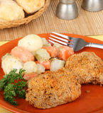 Chicken Thigh Dinner Stock Photography