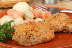 Chicken Thigh Meal Royalty Free Stock Photo