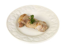 Chicken Thigh with Watercress Royalty Free Stock Image