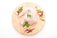 chicken thigh stock photo