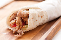 Chicken thigh wrap Royalty Free Stock Photography