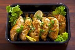 Chicken thighs Stock Photos