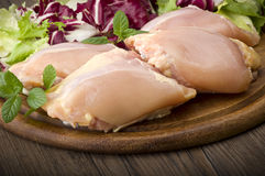 Chicken thighs Royalty Free Stock Images
