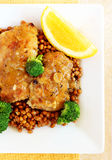Chicken thighs with lentils Royalty Free Stock Photo