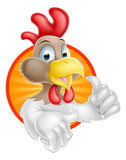 Chicken THumbs Up Design Royalty Free Stock Photography