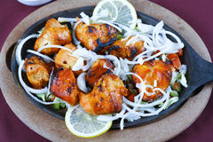 Chicken tikka. In plate ready to serve Royalty Free Stock Image