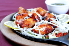 Chicken tikka. In plate ready to serve Stock Photos