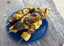 Chicken tikka with banana Stock Photography