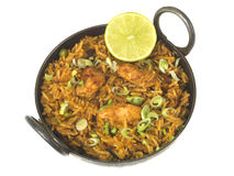 Chicken Tikka Biryani Stock Photos