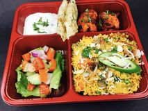 Indian lunch set stock photography