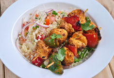 Chicken Tikka with Couscous Salad Royalty Free Stock Images