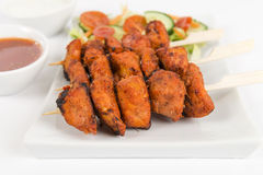 Chicken Tikka Kebab Stock Photography