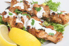 Chicken Tikka Kebabs Stock Photo